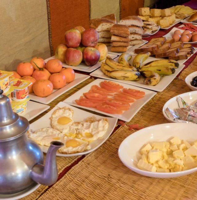 Desayuno Haimas lujo Desierto Merzouga