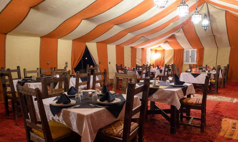 Restaurante Haimas lujo Desierto Merzouga