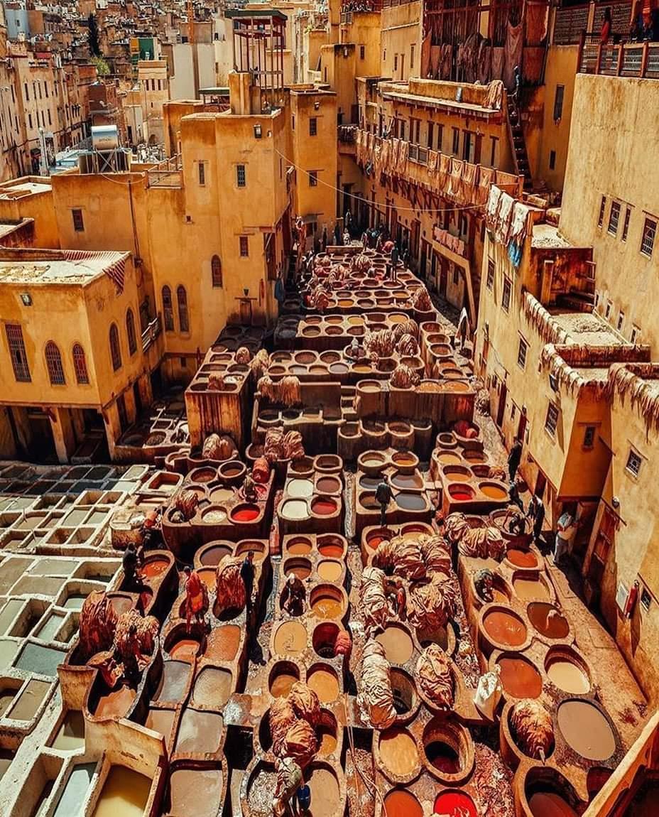LA ciudad de Fez, curtidores de piel